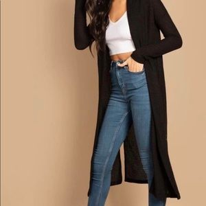 52 Weekends Sweater Duster Long Cardigan V-Neck